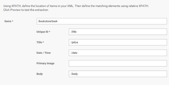 XML-content